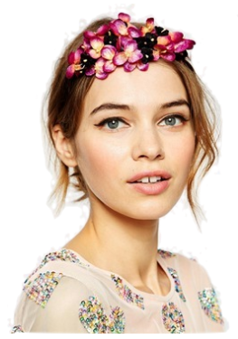 velvet flower crown