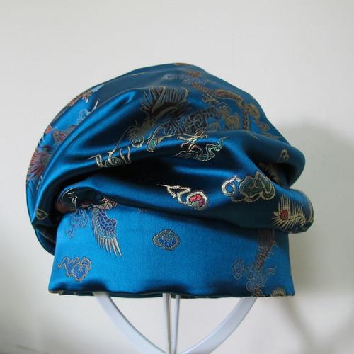 Draped 1920s turban