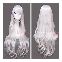 80cm long silver wavy sweet Cosplay hair wig CW201C