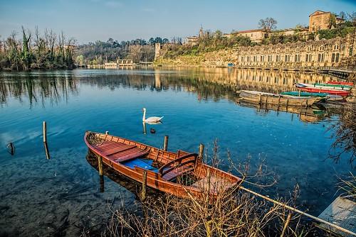 sky water river boats fiume barche trezzosulladda 2470mmf28 centraletaccani nikond800