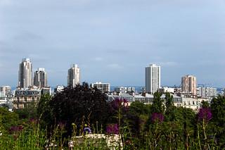 Vue sur le Nord de Paris depuis le Parc des Buttes Chaumont