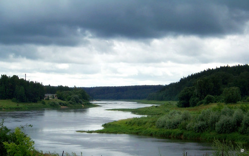 river landscape daugava krāslava