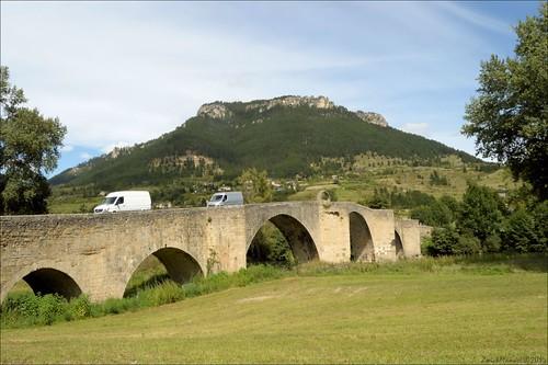bridge france pont tarn languedocroussillon quézac lozère