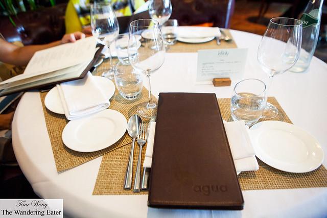 Menus and table setting