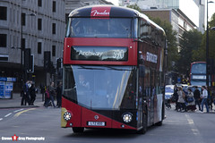 Wrightbus NBFL - LTZ 1100 - LT100 - MetroLine - Fender Stratocaster Advert - Kings Cross London - 140926 - Steven Gray - IMG_0336