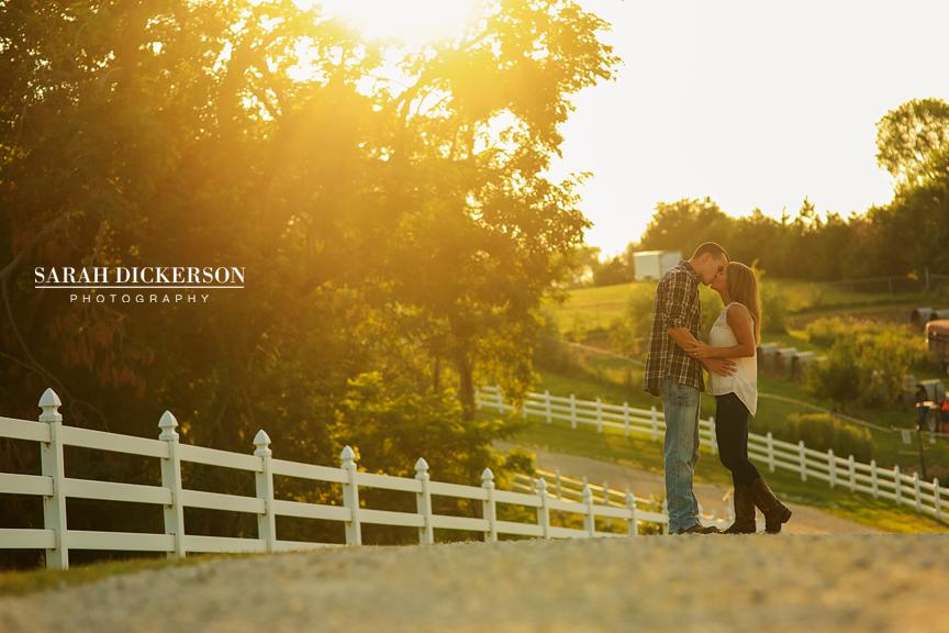 Kansas farm engagement photos