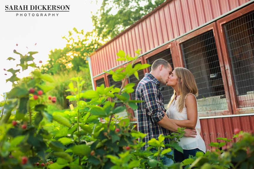 Kansas farm engagement session
