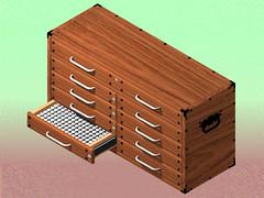 Gauge Pin Cabinet