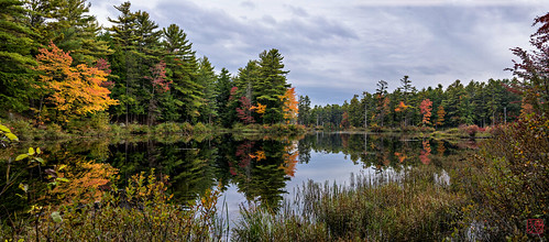 sunset reflection unitedstates pano massachusetts royalston tullylake fall2014