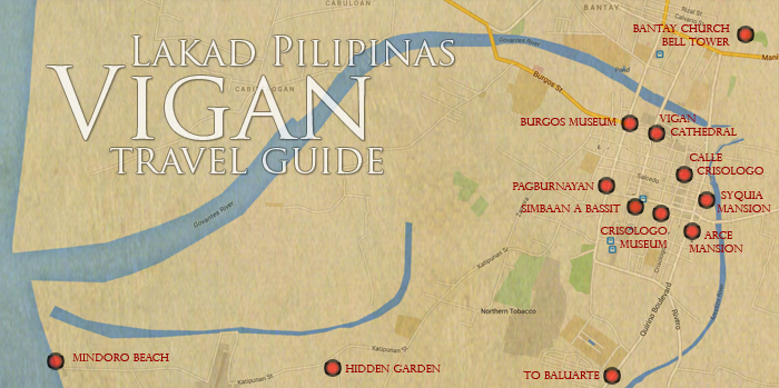 Vigan Tourist Spots Map