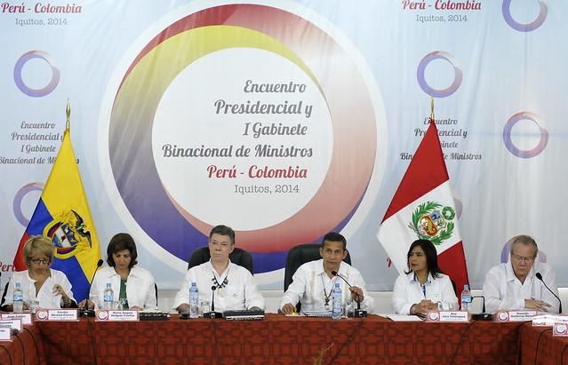 Jefes de Estado de Perú y Colombia presiden Primer Gabinete Binacional de Ministros