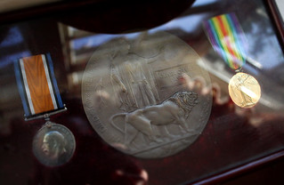 Olivers Death Penny and medals