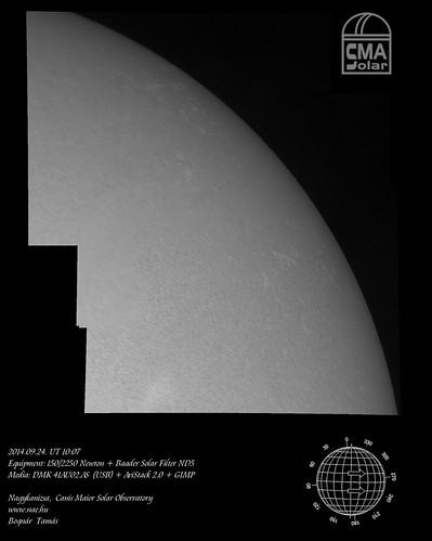 White light Sun - 2014.09.24. - Bognár Tamás, NAE