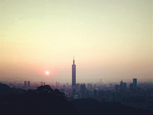 2014/09/28-台北的黃昏,也是香港的黃昏...