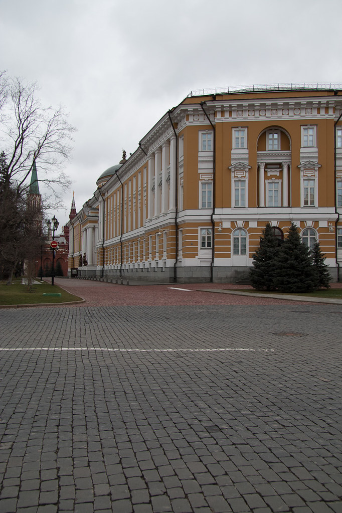 Buildings on the Kremlin grounds while touring
