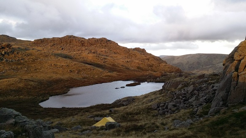 Looking down on High House Tarn from High House Tarn Top #sh