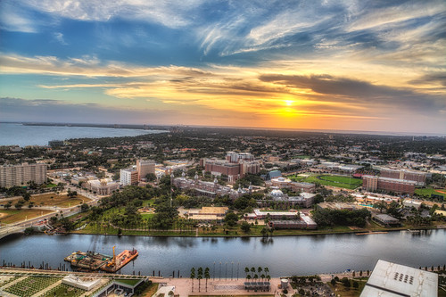sunset tampa florida processing nik hdr selectivecolor hillsboroughriver universityoftampa firstbaptistchurch photomatix