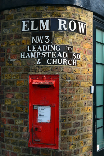 Elm Row sign / NW3