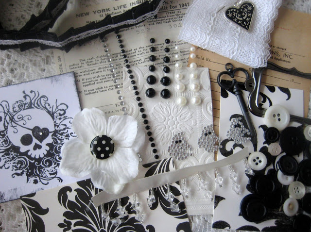 Petite Inspiration Box Swap (Black and White Edition) 6