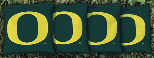 OREGON DUCKS GREEN CORNHOLE BAGS
