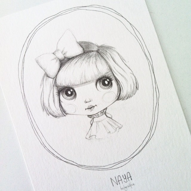 Illustrated Naya, for her adoption. Tonight at my place.
