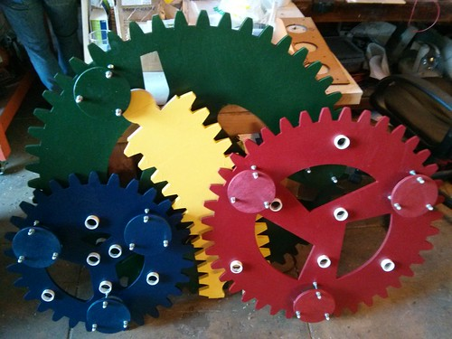 Spirograph gears painted