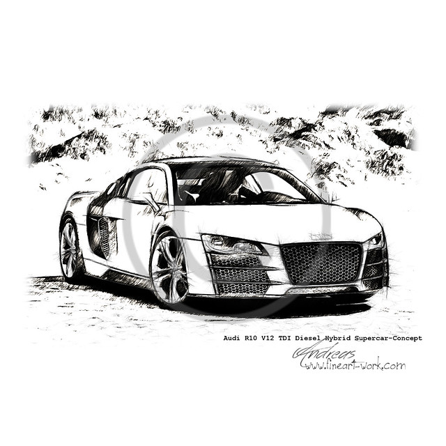 Audi R10 V12 TDI Diesel Hybrid Supercar-Concept