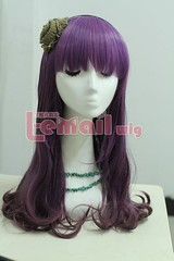 Charm Zipper Mix Purple Wig 55cm