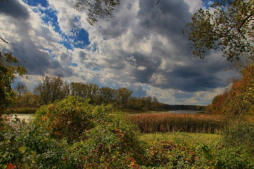 autumn trees clouds canon autumncolors hdr highdynamicrange mohawkriver vischerferry canont4i