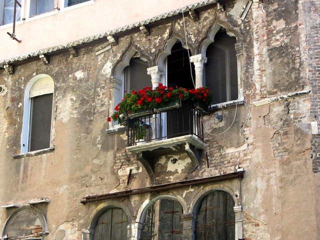 Venetian Arches and Flowers