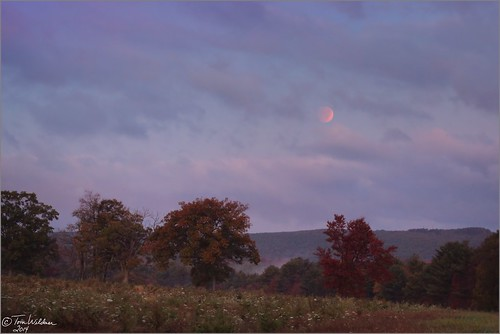 autumn moon fall clouds canon eclipse october colorful pennsylvania fullmoon astrophotography astronomy total moonset astronomer 2014 weatherly carboncounty totaleclipse canon6d tomwildoner
