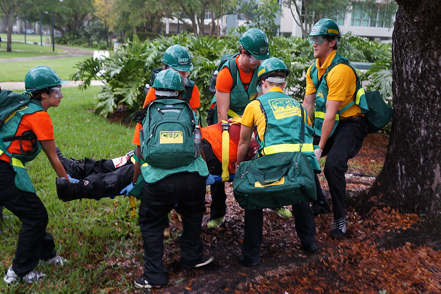 Full-scale exercise at the University of Miami