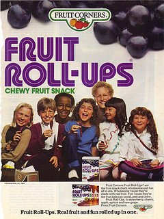 """FRUIT ROLL-UPS :: """" - Real fruit and fun .. """" (( 1984 ))"""