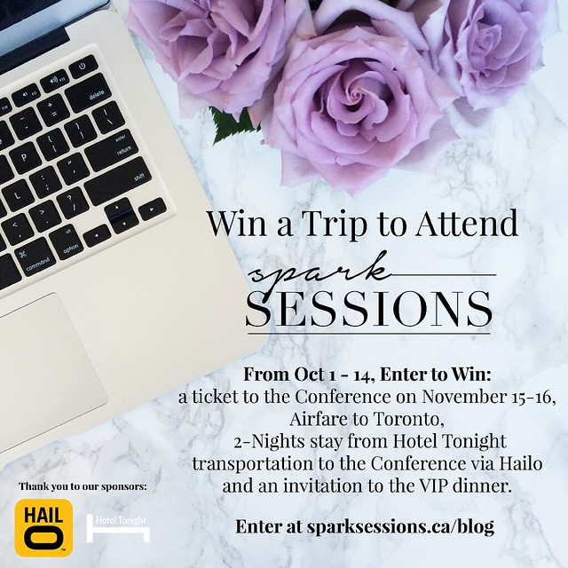 Contest-Hotel-Tonight-Hailo, spark sessions, giveaway, contest, conference, fashion and beauty blogger conference
