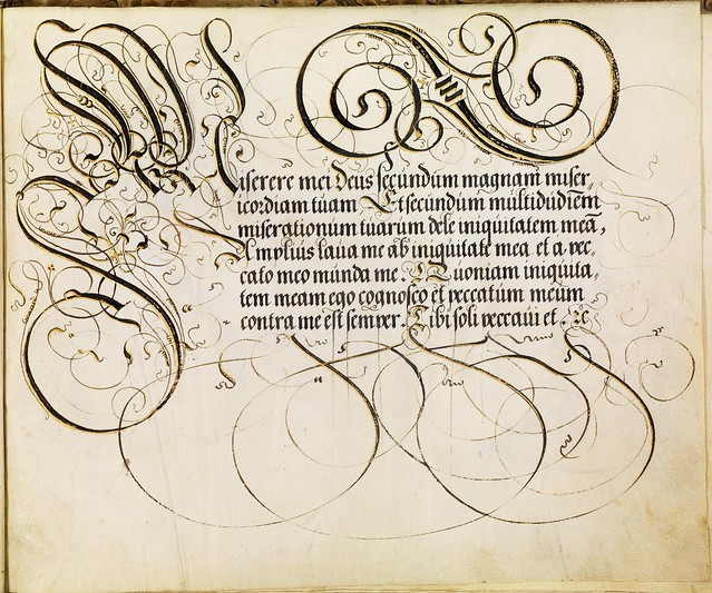 FJ Brechtel calligraphy 16th cent. k