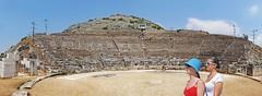 Macedonia, visitors at Philippi ancient theatre, Greece #Μacedonia