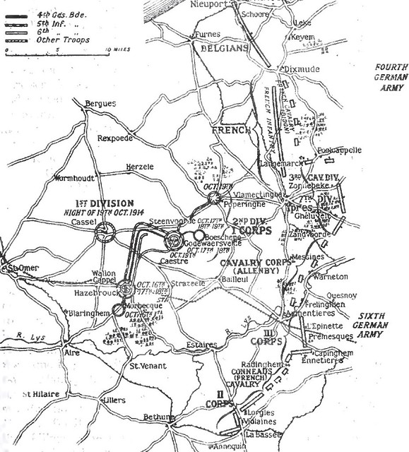 2 Positions_of_the_Allied_and_German_armies,_19_October_1914