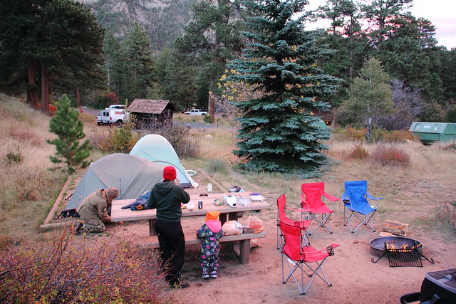 Camping at Rocky Mountain National Park