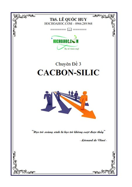 Bài tập trắc nghiệm hóa học chương cacbon-silic