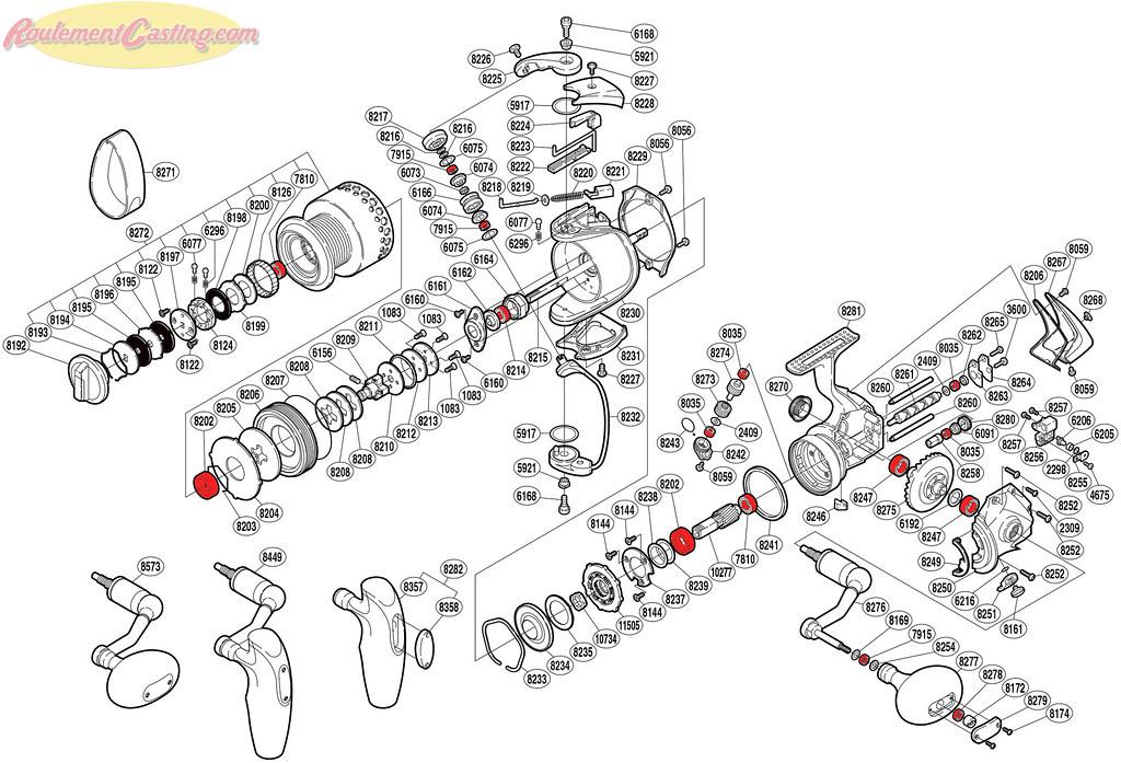 Schéma Shimano Stella 8000FA