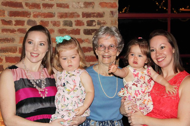 Grandmother and her granddaughters and great granddaughters