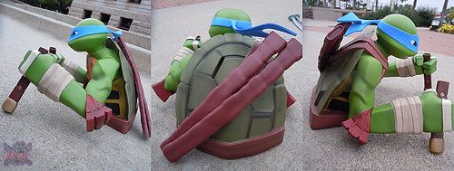"DIAMOND SELECT TOYS :: Nickelodeon  TEENAGE MUTANT NINJA TURTLES;  ""LEONARDO"" Vinyl Bust Bank iv  (( 2014 ))"