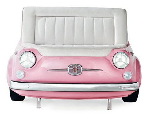 pink fiat couch