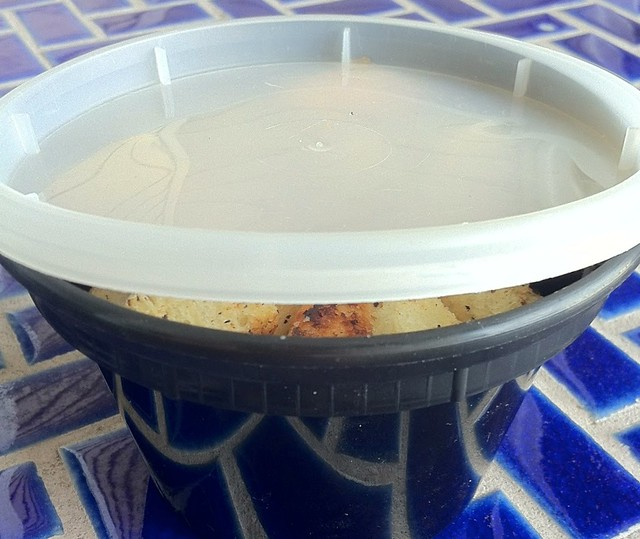 Croutons Stored in Container