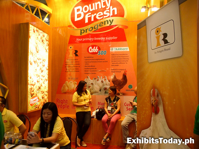 Bounty Fresh exhibit booth