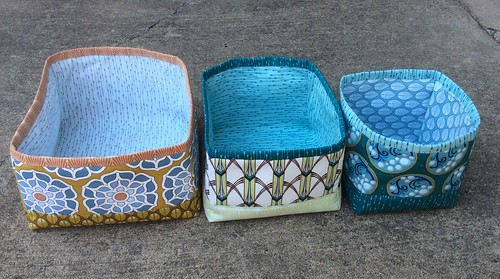 Itty Bitty Nesting Baskets in Cascade by Jessica Levitt