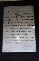 Cenotaph on the wall of Seamen's Bethel