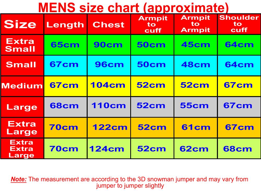Uk Mens Jumper Size Chart 20