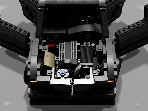 Lego 1990 Mercedes 190E Evo II - Engine