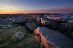 Morning Light on Stanage Rocks